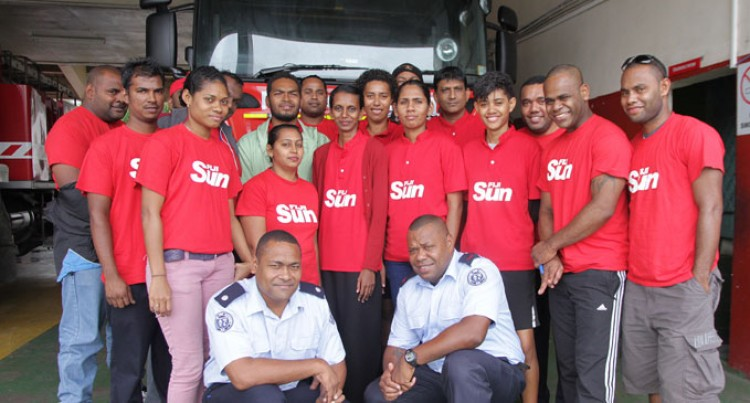 Fiji Sun Staff Undergo Fire Training