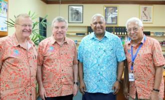 Bainimarama, IOC's Bach Meet