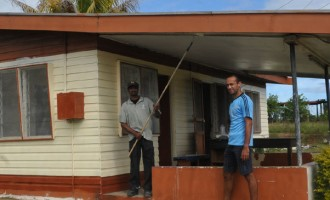 Community Pitches In To Restore Post