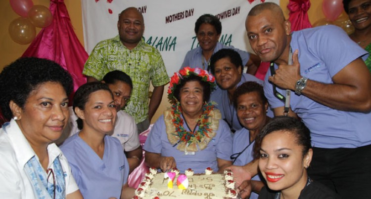 Triple Celebration For Fiji's Oldest Midwife