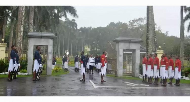 Tourists Witness Change Of Guard