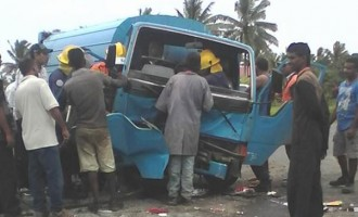 Site of the accident in Navua.