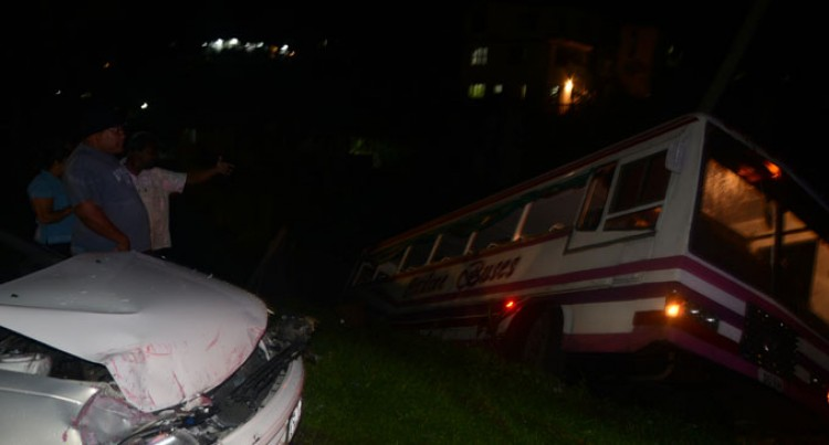 Close Shave For Family As Bus Rolls
