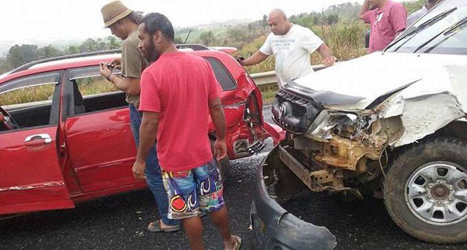 7-car Crash In Sigatoka