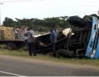 Truck Veers Off Road
