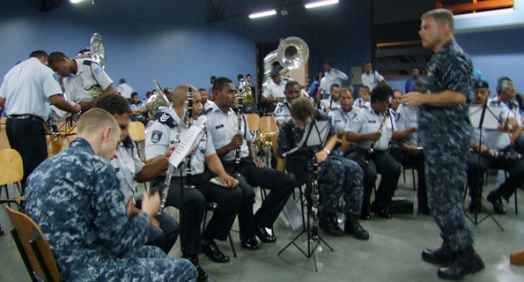 FNU Students, Police Band Members Learn From US Navy