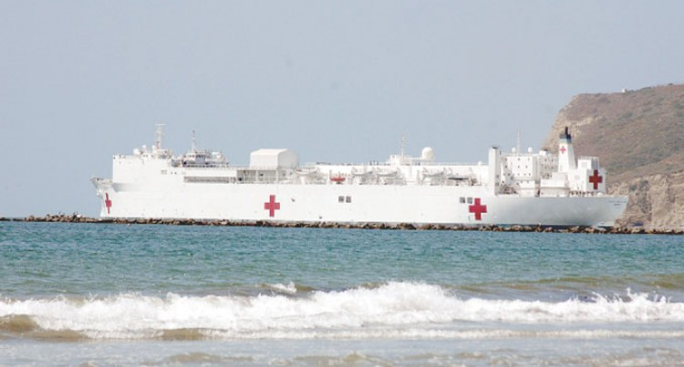US Naval Hospital Ship In Today
