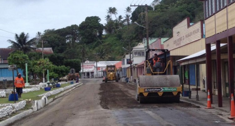 Levuka Town street, Drainage Upgraded