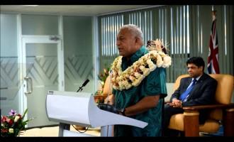 PM Voreqe Bainimarama Launches Green Growth Framework