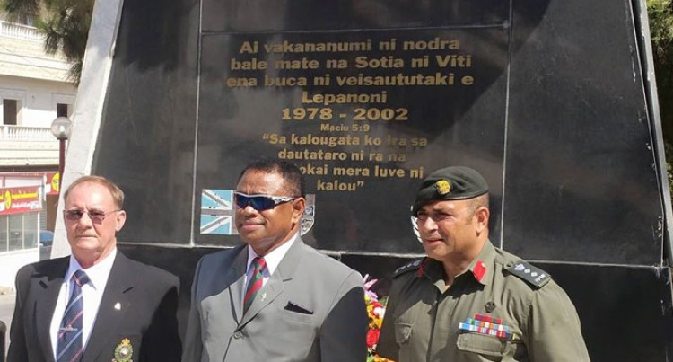 Fijian Troops In Lebanon Host Tour By Minister And delegation