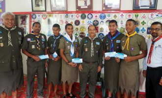 Church Farewells Scouts