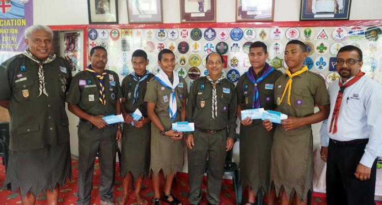 Church Farewells Scouts