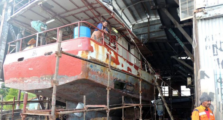 Fishing Vessels Top Repair At Slipway