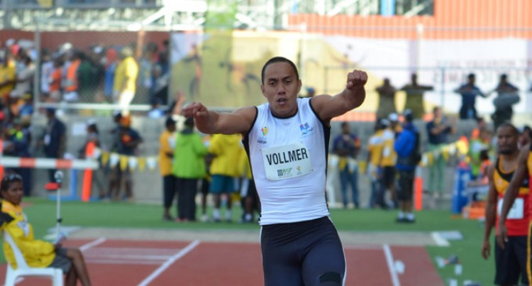 Vollmer Jumps For Gold