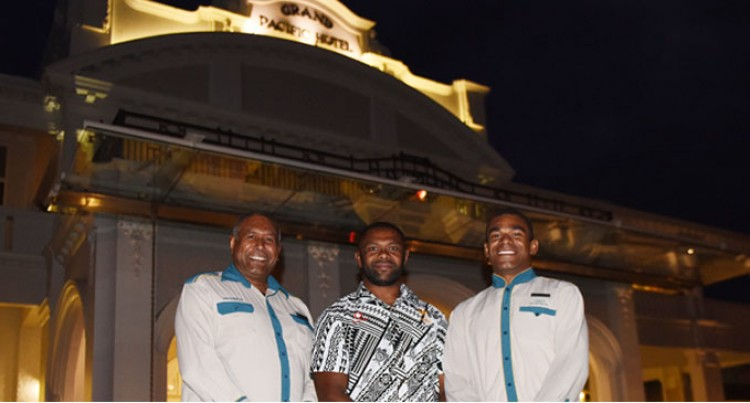 Vodafone Flying Fijians March In To camp