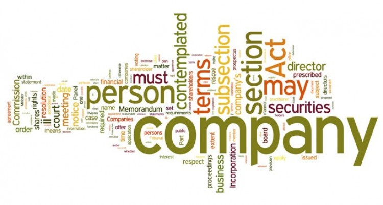 Companies Act Anticipated to  be in place by January 2016