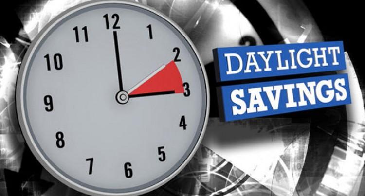Daylight Saving Starts November 1