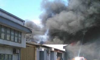 BREAKING: Firefighters Struggle To Put Out Fire