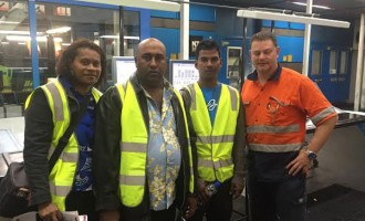 Fiji Sun Press Crew At Top NZ Site