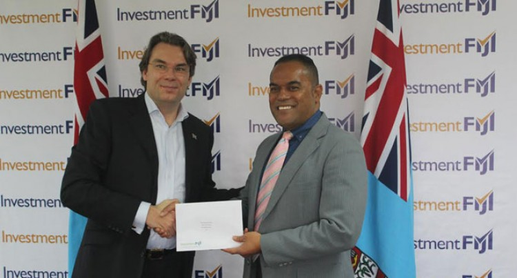 Investment Fiji Hands Over Cheque To Ministry