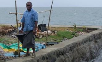 Seawall Stops Soil Erosion