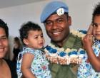Baby Karalaini Meets Dad