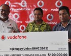 Vodafone Gives $100,000 Cheque