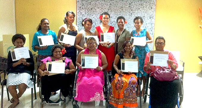 Debra Sandranu Organises  Manicure Training For  Women With Disabilities