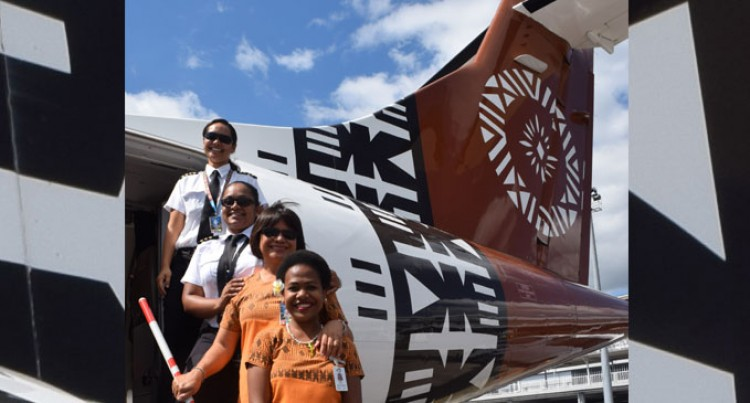 Fiji Link's First all-female flight crew operates to Apia