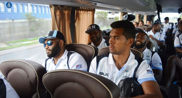 Flying Fijians Arrive In London