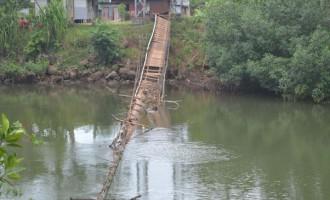 Broken Bridge Worries Villagers