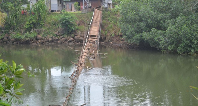 Broken Bridge Worries Villagers
