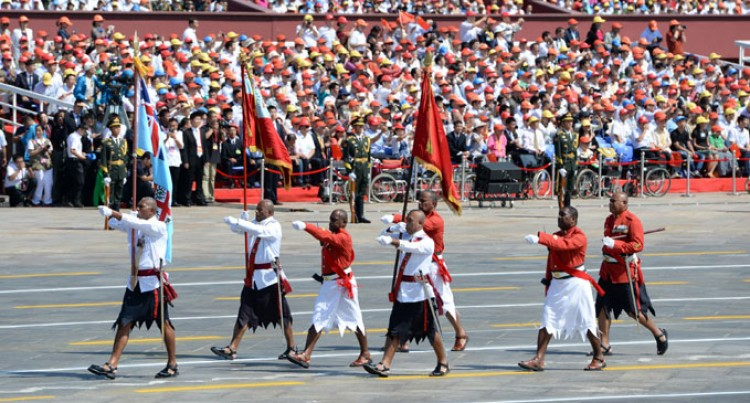 Fijians In China's V-Day parade