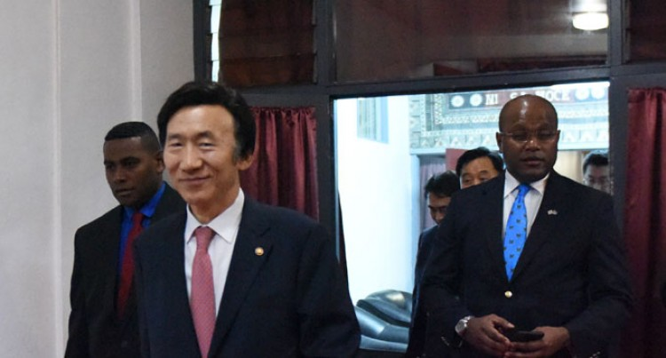 South Korean Foreign Minister In Country