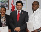 Two Receive Civil Marriage Certificates