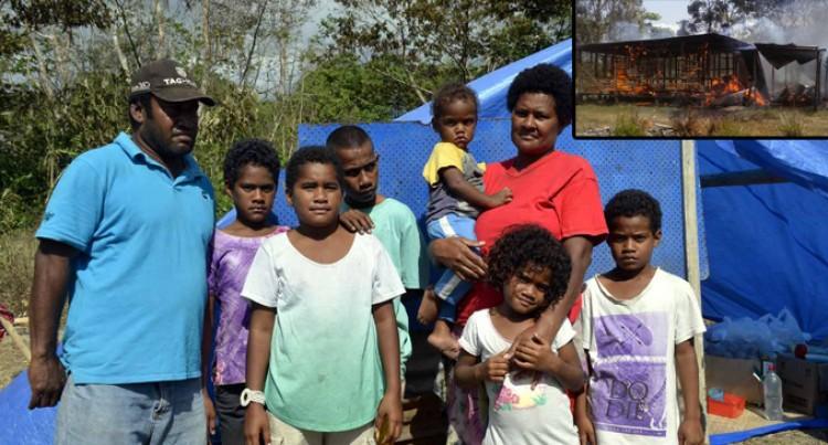 Inferno Leaves Kula Family Homeless