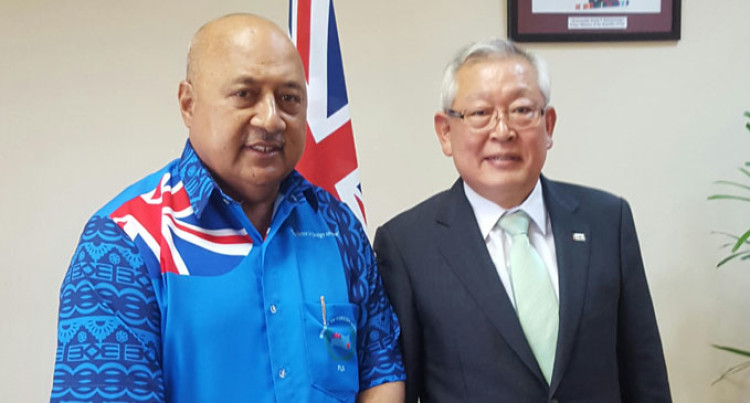 Korean Elections Envoy Visits Ratu Inoke