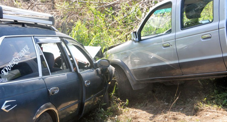 Two Drivers, Passengers  Survive Head-On Collision