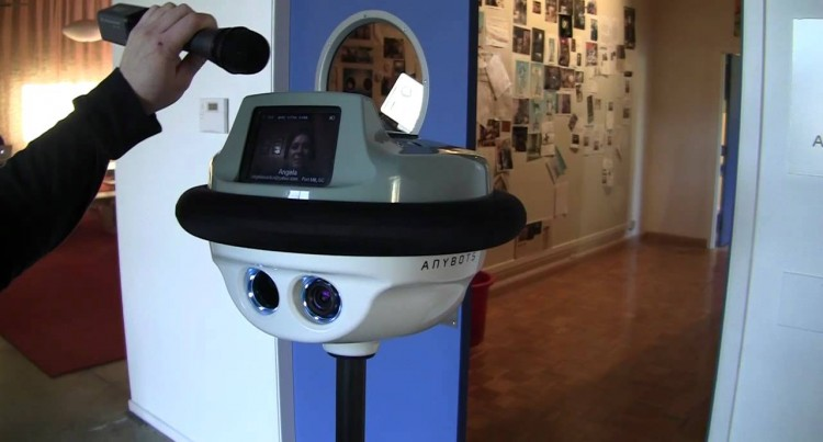 Telepresence: iPad on wheels