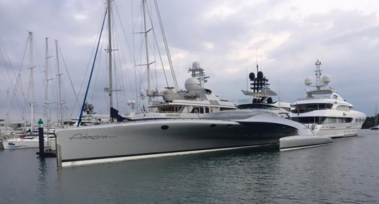 Super Yacht Adastra Boosts Port Denarau Marina Image