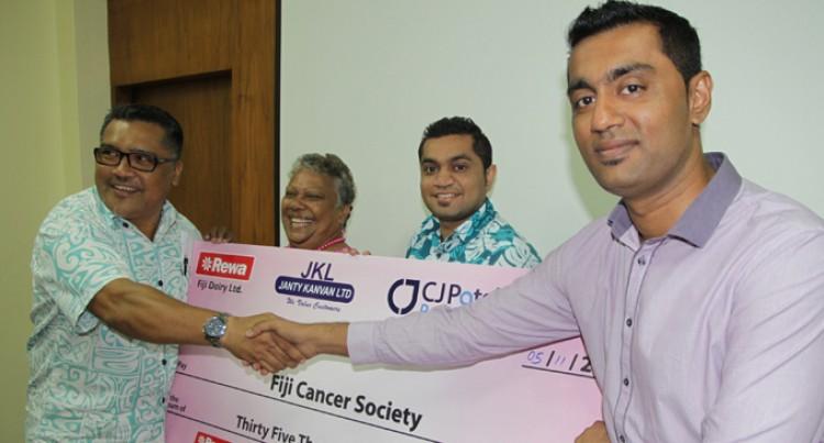$35,000 Joy for Fiji Cancer Society