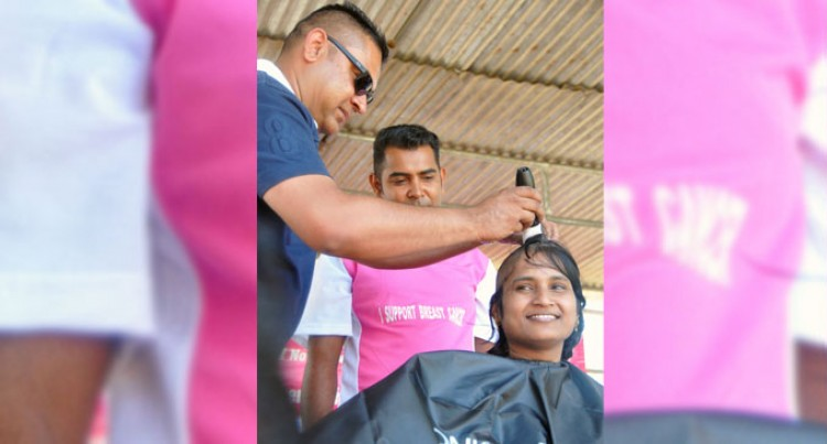 Three Shave Head  For Cancer Drive