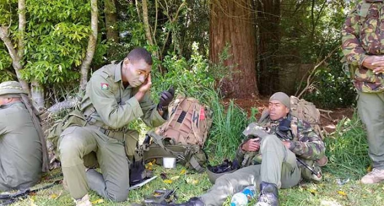 Fijians In New  Zealand Exercise