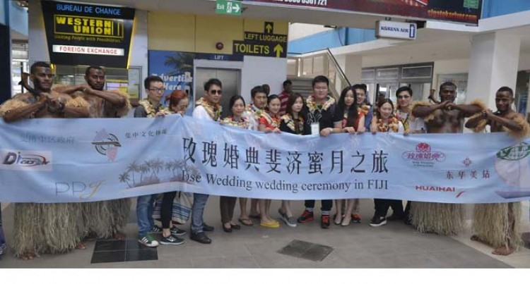 Chinese Wedding Group In The Country