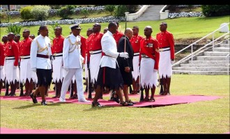First Guard Of Honour For President Konrote