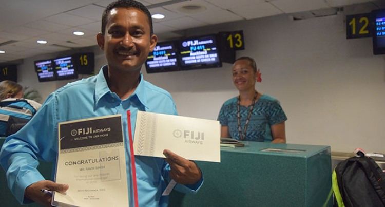 Fiji Airways Passes One Millionth Passenger Mark For This Year
