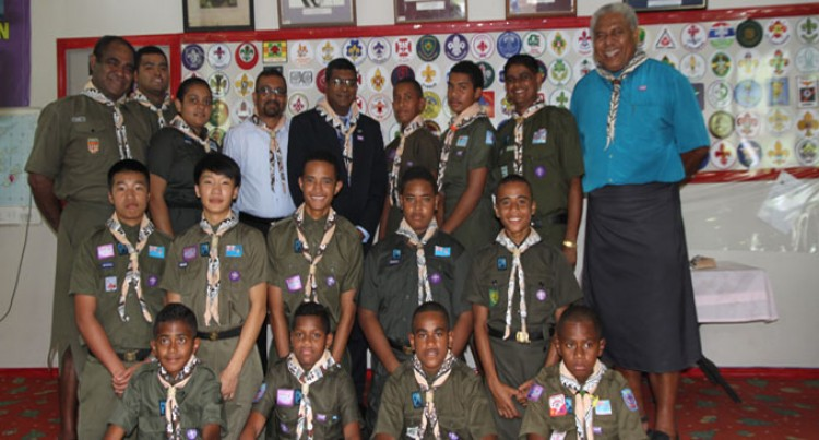 Lone Female Joins Scout Camp