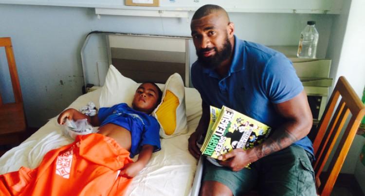 NRL Star Koroibete Visits Sick Children