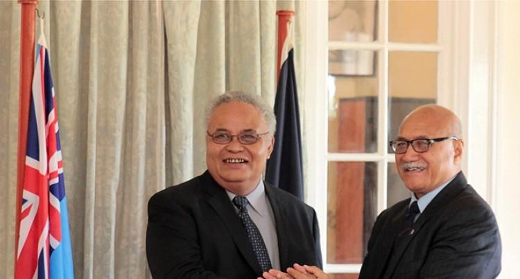 President Konrote Welcomes  FSM Envoy, Sebastian Anefal