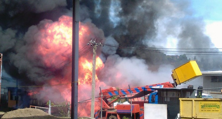 Fire Destroys Two Companies in '10 Minutes'
